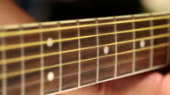 Playing a acoustic guitar