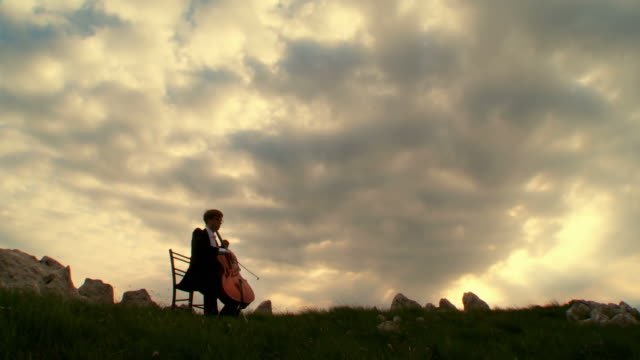 HD-KRAN: Spielen Cello In der Natur