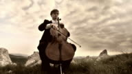 HD CRANE: Playing Cello Outdoors