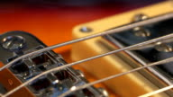 playing Electric guitar chords solo close-up