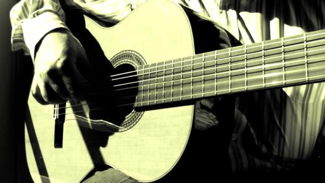 Playing sevillanas