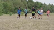 Playing Soccer with Friends in the Summer