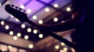 Playing The Bass Guitar, Close up