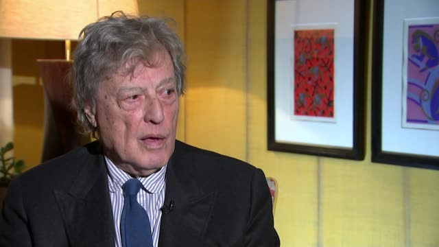 Playwright Sir Tom Stoppard wins lifetime achievement award Sir Tom Stoppard interview SOT will alter people's behaviour / sea change in how men...