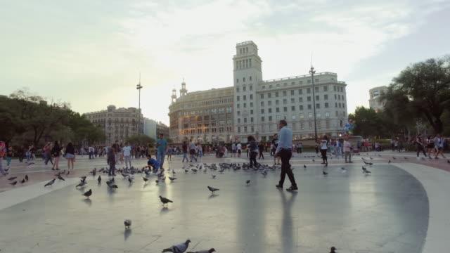 Plaza Catalunya, Barcelona, Spanje
