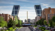 Plaza de Castilla, Madrid - Timelapse