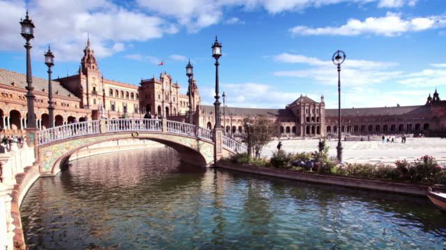 Plaza de Espana a Siviglia, Spagna