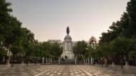 plaza nueva timelapse de dia a noche sevilla