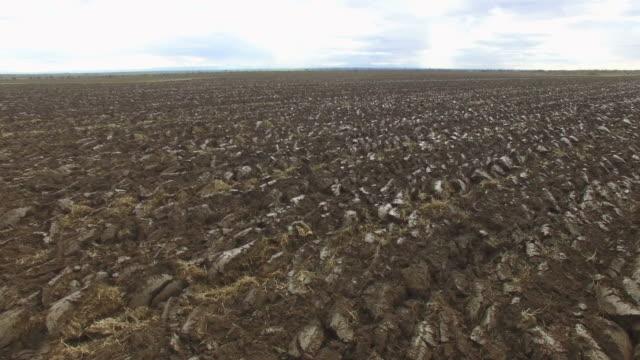 AERIAL Plowed field