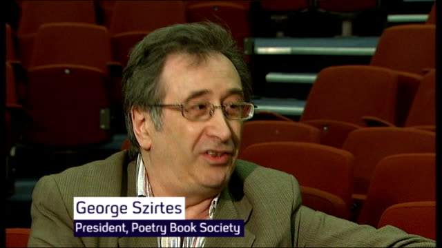 Poet Laureate says Arts Council cuts disastrous for British poetry George Szirtes interview SOT Poetry Book Society was in process of extending its...