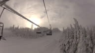 Point Of View Chairlift going up at ski station