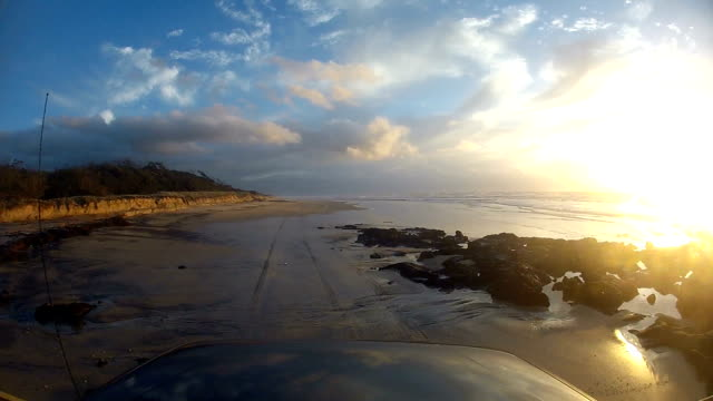Synvinkel körning på Fraser Island, Australien