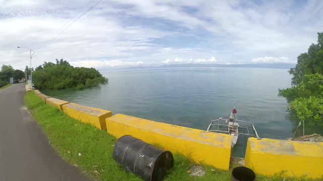 Point of view riding habal habal in the Philippines