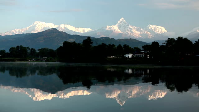 Pokhara Phewa Lake Machapuchare