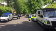 Police activity centred on a flat in a newlybuilt fourstorey block of apartments in Carlton Street in Whalley Range a mile from the other address...