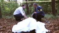 Police and FBI on crime scene