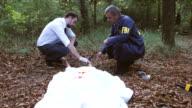 Police and FBI on murder scene