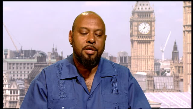 Police arrest alleged drug lord Christopher 'Dudus' Coke ENGLAND London INT Ben Bowling interview SOT