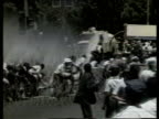 Police attempt to disperse crowd by firing water cannon on demonstrators calling for release of Nelson Mandela