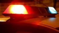 Sirena di auto della polizia. Primo up