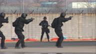 MS TS ZO Police commando doing simulation exercise against terrorism / Incheon, South Korea