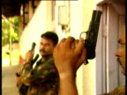 A police commando squad train for raids on suspected gangsters