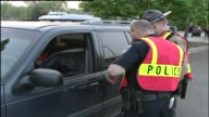 Police Conducting Roadside Checks Of Cars on May 03 2003 in Chicago Illinois