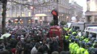 Police have once again clashed with protesters against tuition fees at a demonstration in central London 7 students have been arrested one police...