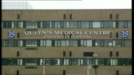 Police investigating death of woman who died during routine surgery in hospital in Nottingham ENGLAND Nottingham Queen's Medical Centre EXT General...