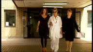 Police officer faces prison after dangerous driving conviction ENGLAND London Southwark EXT Patsy Belmonte and Francesca Belmonte away from court...