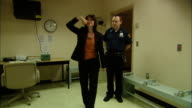 MS Police officer watching drunk woman take sobriety test/ New Jersey