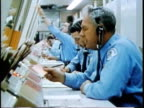 1963 MONTAGE Police officers at control panel in communications centre / Chicago, United States / AUDIO