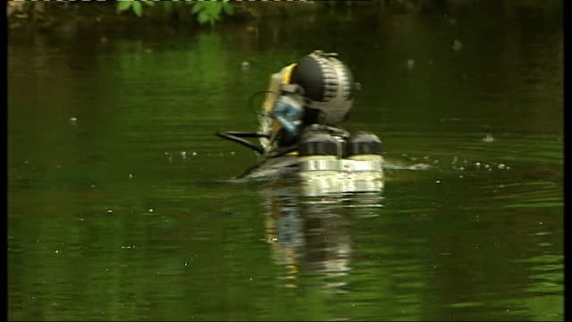 Police officers carrying out search for evidence around flat where Griffiths lived Police diver searching in the River Aire as alarrm sounds SOT and...