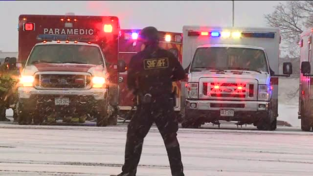 WGN Police Officers on Scene After Colorado Springs Planned Parenthood Shooting on November 27 2015 in Colorado Springs Colorado