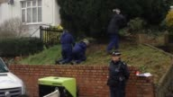 Police officers search the area around the home of former Eastenders actress Sian Blake on January 6 2016 in London England The former Eastenders...
