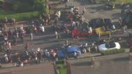 Aerials AIR VIEW Residents on street