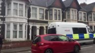 Police presence outside a property in PenyWain Road Roath Cardiff after a seventh person was arrested in connection with the Parsons Green bombing A...