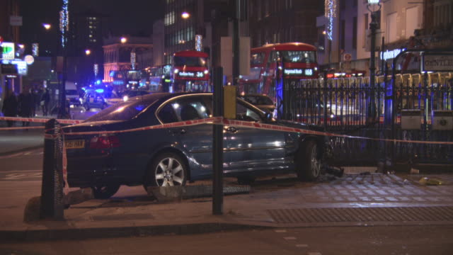 A police pursuit results in a car crash on Camden High Street
