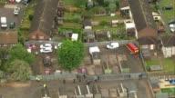 Police search garages in hunt for body of murdered schoolgirl Danielle Jones AIR VIEWS / AERIALS garages where Danielle Jones may be buried