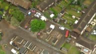 Police search garages in hunt for body of murdered schoolgirl Danielle Jones ENGLAND Essex Thurrock Tilbury VIEWS / AERIALS garages where Danielle...