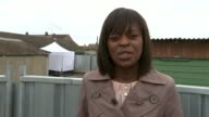 Police search garages in hunt for body of murdered schoolgirl Danielle Jones Thurrock Tilbury Reporter to camera Steve Worron interview SOT