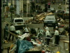 Police sifting through rubble for forensic evidence Omagh Bombing 17 Aug 98