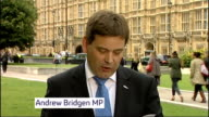 Police state no action to be taken against Conserative MP over sexual assault allegations ENGLAND London Westminster EXT Andrew Bridgen MP statement...