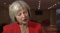 Police Superintendents Association Annual Conference 2015 Theresa May interview and speech ENGLAND Warwickshire INT Theresa May MP interview SOT On...