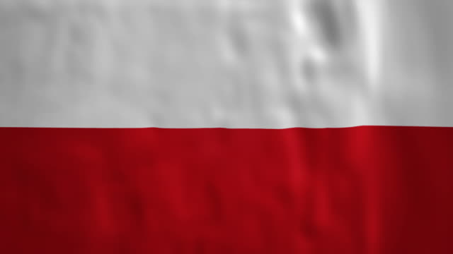 Polish Flag as a loopable blowing background