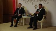 Polish President Andrej Duda and Ethiopian President Mulatu Teshome Wirtu meet and hold a joint press conference at the National Palace in Addis...