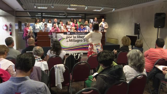 Political leaders from Uruguay along with NGOs and Human rights organisations denounce the political persecution against Argentine activist and...