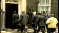 Politicians / foreign dignitaries arrive and depart Downing Street ENGLAND London Downing Street EXT People arriving at Downing Street / Robin Cook...