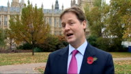 Politicians former diplomats and friends reaction to Barack Obama's election win Westminster EXT Nick Clegg MP interview SOT need heart of stone not...