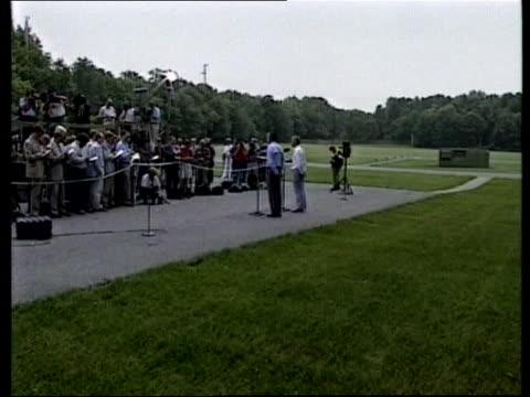 Bush/Major Camp David Talks USA Maryland Camp David LMS George Bush amp John Major MP in golf buggy along PAN RL Photographer TLMS Major amp Bush at...